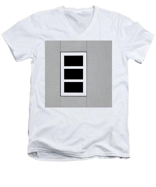 Black Tryptic Men's V-Neck T-Shirt