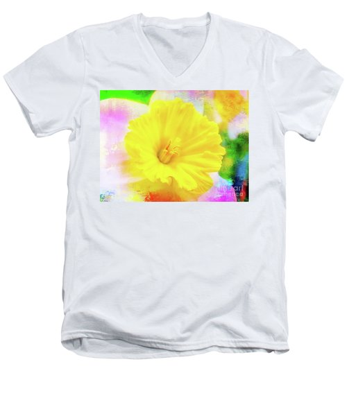 Daffy Daffodil 2 Men's V-Neck T-Shirt