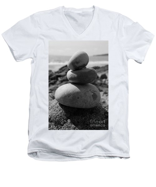 Fine Art - Pebbles Men's V-Neck T-Shirt