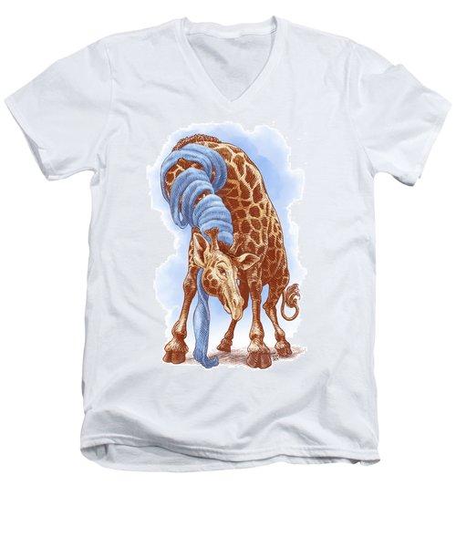 Giraffe Men's V-Neck T-Shirt