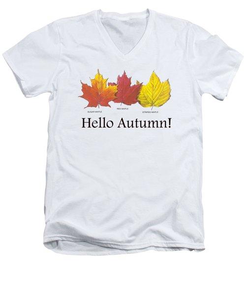 Hello Autumn Men's V-Neck T-Shirt