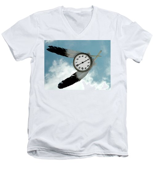 How Time Flies Men's V-Neck T-Shirt
