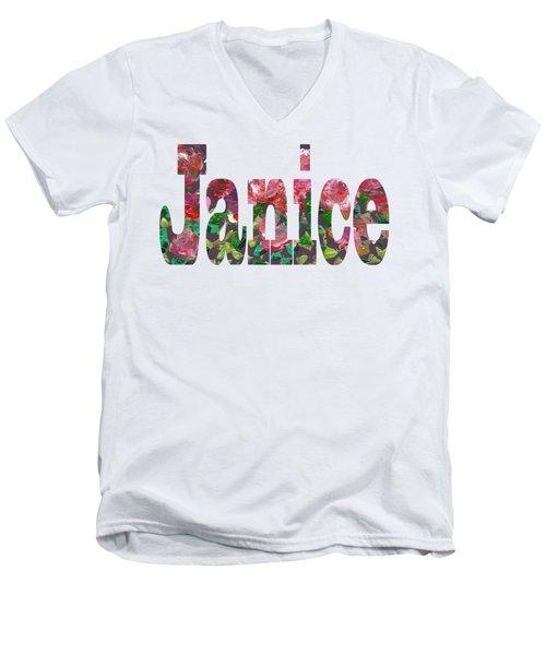 Janice Men's V-Neck T-Shirt