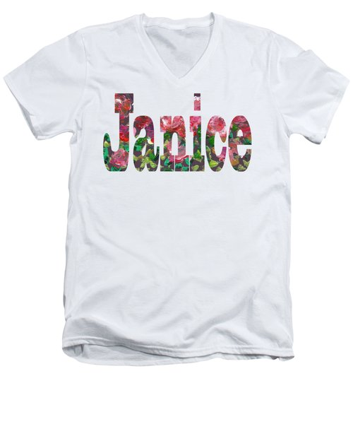 Janice Men's V-Neck T-Shirt