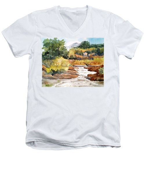 Mountain Run Off Men's V-Neck T-Shirt