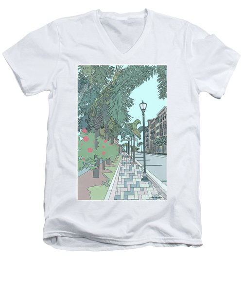 Orange Avenue Men's V-Neck T-Shirt