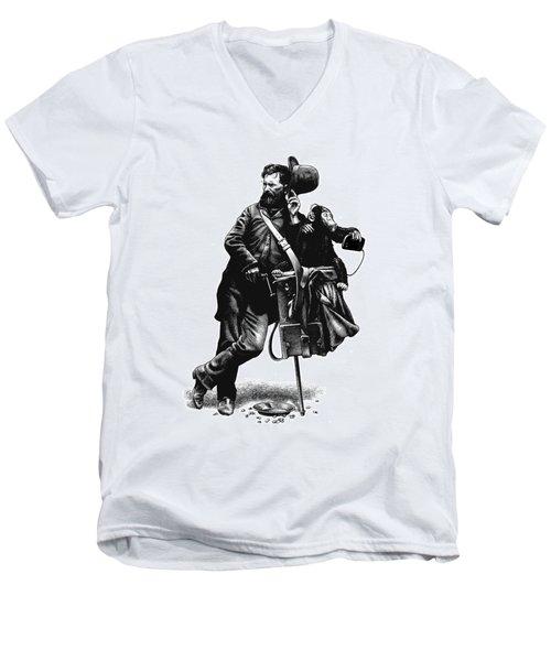Organ Grinder Men's V-Neck T-Shirt