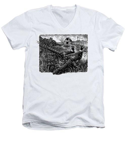 Pheasants Men's V-Neck T-Shirt