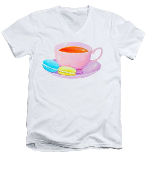 Tea And Macaroons Men's V-Neck T-Shirt