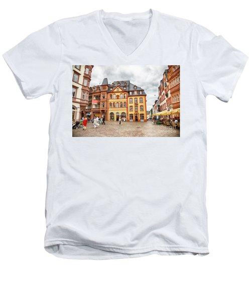 Trier, Germany,  People By Market Day Men's V-Neck T-Shirt
