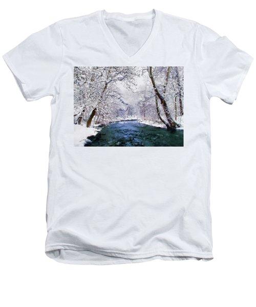 Winter White Men's V-Neck T-Shirt