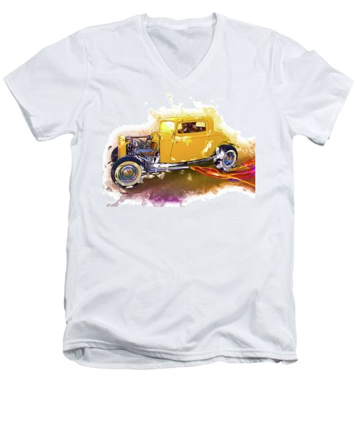 1932 Ford Hotrod Men's V-Neck T-Shirt