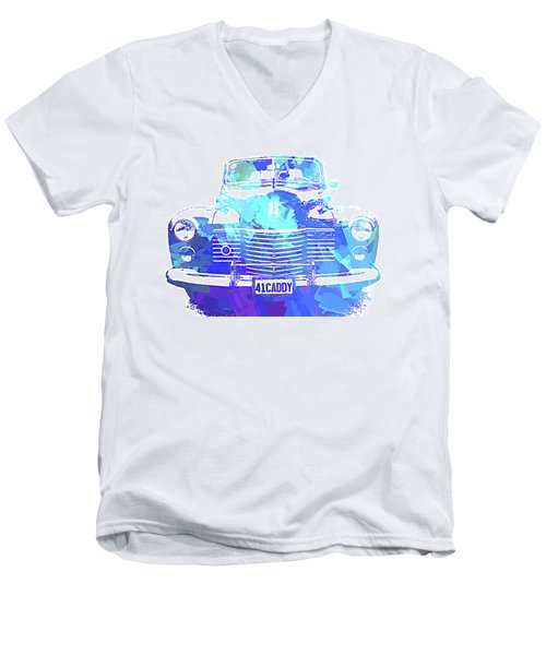 1941 Cadillac Front Abs Blue Men's V-Neck T-Shirt