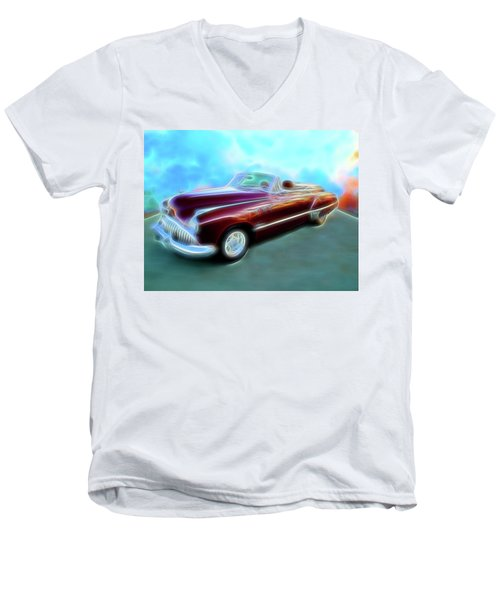 1949  Buick Convertable Men's V-Neck T-Shirt