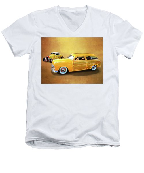 1949 Woody And 1932 Roadster Men's V-Neck T-Shirt
