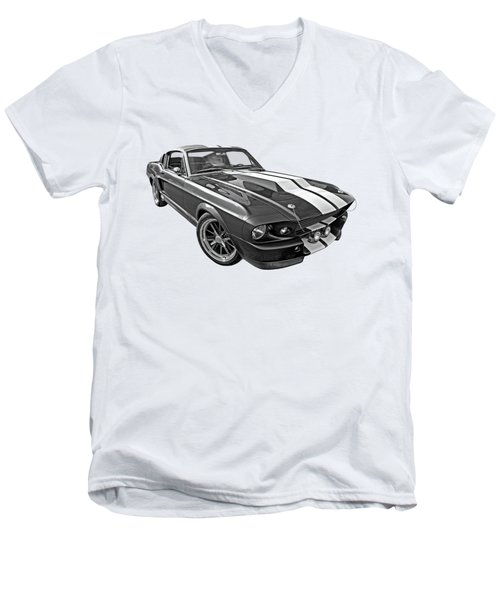 1967 Eleanor In The Clouds Men's V-Neck T-Shirt