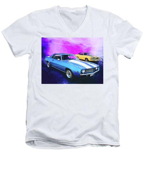 2 Camaros Men's V-Neck T-Shirt