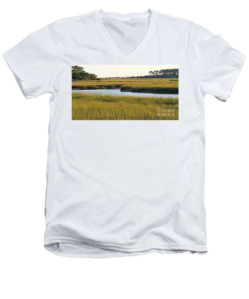 South Carolina Salt Marsh Men's V-Neck T-Shirt