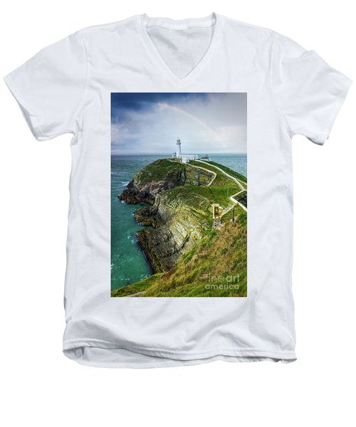 South Stack Lighthouse Men's V-Neck T-Shirt