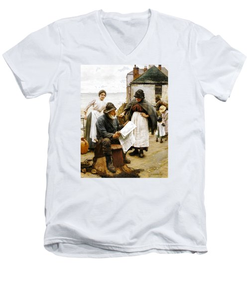 When The Boats Are Away Men's V-Neck T-Shirt