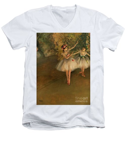 Two Dancers On A Stage Men's V-Neck T-Shirt