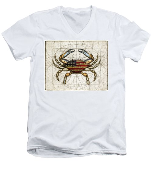 4th Of July Crab Men's V-Neck T-Shirt