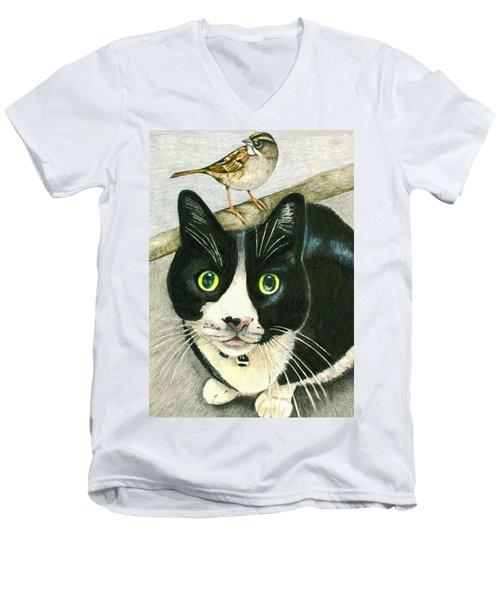 A Cat Named Sparrow Men's V-Neck T-Shirt
