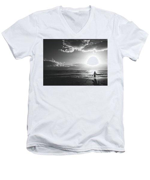 A Day Of Surfing Begins Men's V-Neck T-Shirt