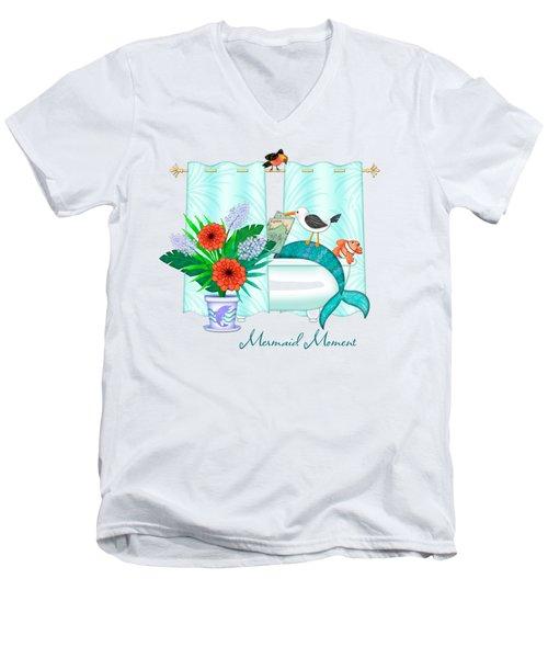 A Mermaid Moment Men's V-Neck T-Shirt