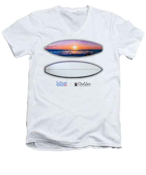A Purple Orange Majestic Sunset-- For Shirts Men's V-Neck T-Shirt