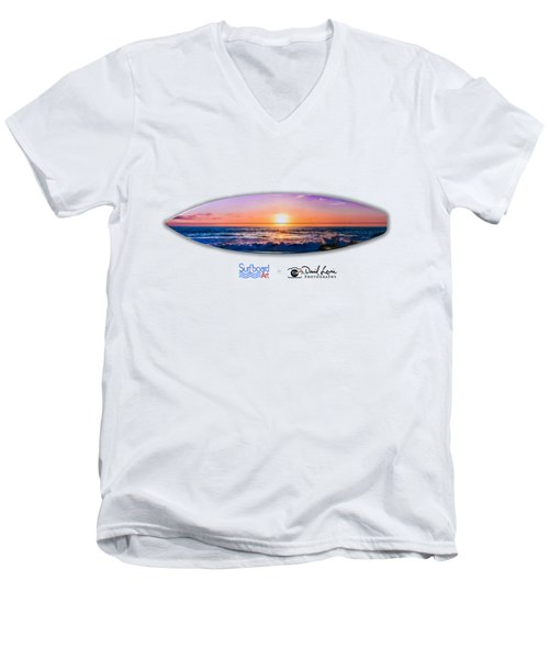 A Purple Orange Majestic Sunset For T-shirts Men's V-Neck T-Shirt