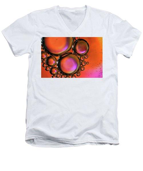 Abstract Droplets Men's V-Neck T-Shirt