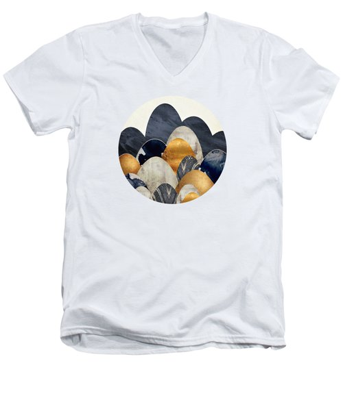 Abstract Hills Men's V-Neck T-Shirt