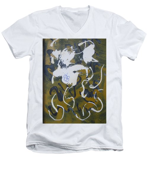 Abstract Human Figure Men's V-Neck T-Shirt