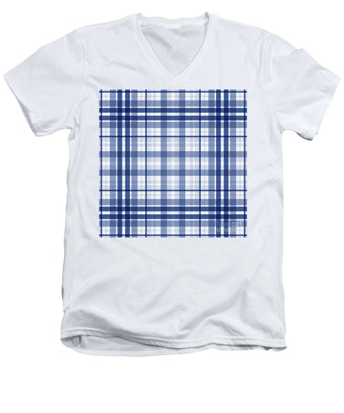 Abstract Squares And Lines Background - Dde611 Men's V-Neck T-Shirt