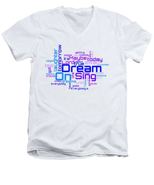 Aerosmith - Dream On Lyrical Cloud Men's V-Neck T-Shirt