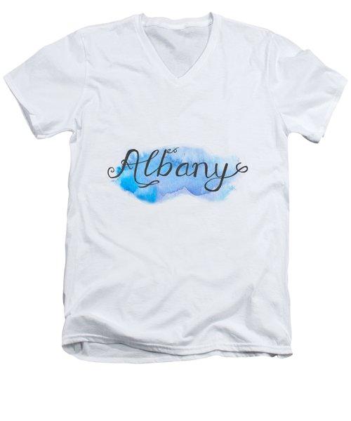 Albany Men's V-Neck T-Shirt