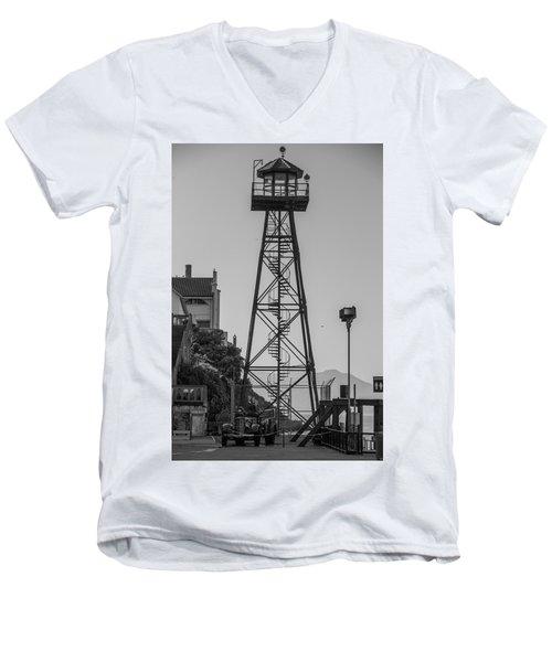 Alcatraz Light House Men's V-Neck T-Shirt