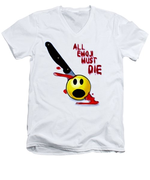 All Emoji Must Die Men's V-Neck T-Shirt