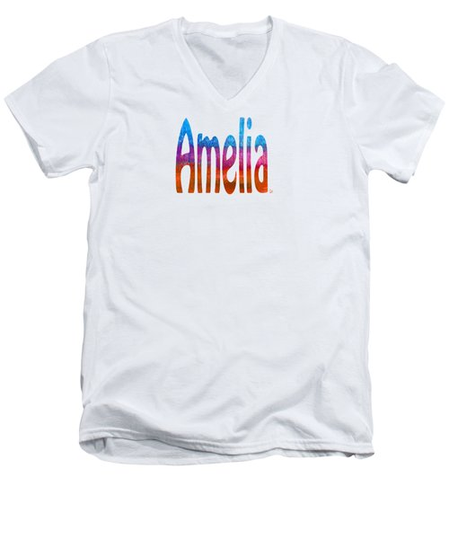 Amelia Men's V-Neck T-Shirt