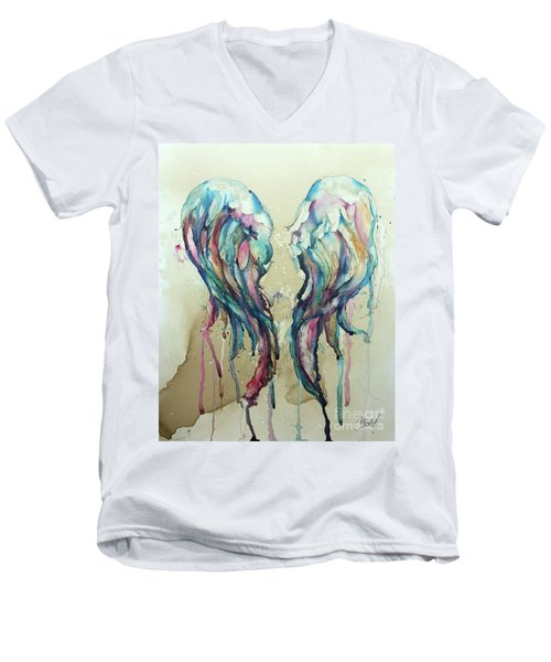 Angel Wings Men's V-Neck T-Shirt