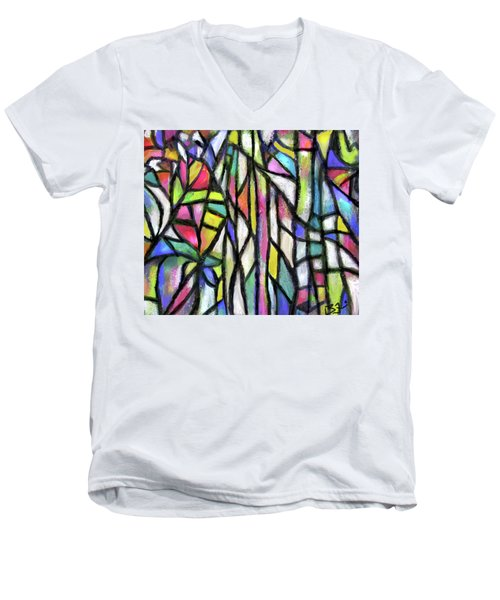 Abstract Forest Men's V-Neck T-Shirt