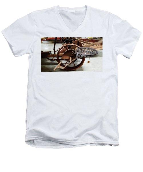 Antique Tractor Seat Men's V-Neck T-Shirt