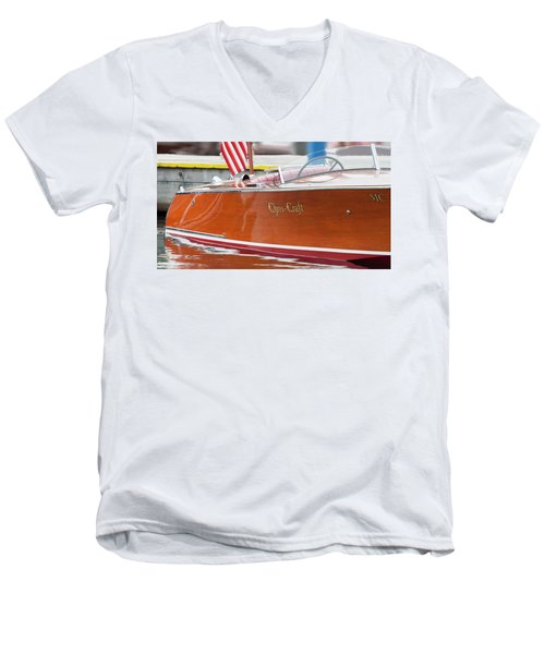 Antique Wooden Boat 1305 Men's V-Neck T-Shirt