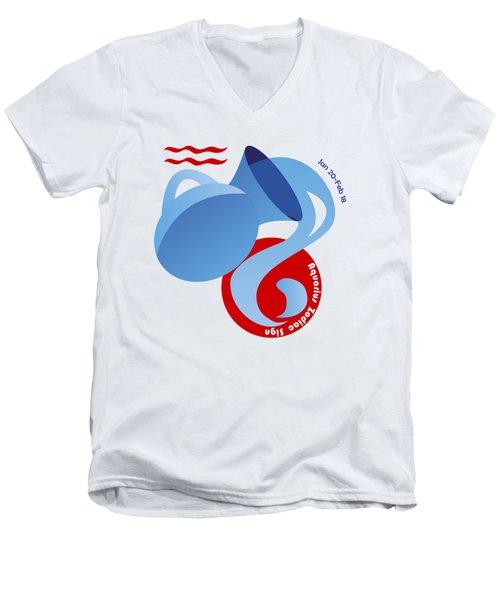 Aquarius - Water Bearer Men's V-Neck T-Shirt