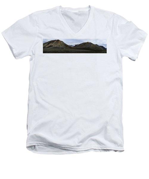 Arctic Mountain Landscape Men's V-Neck T-Shirt