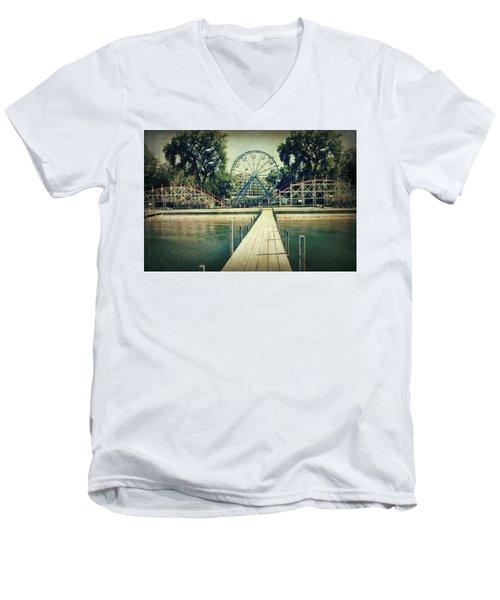Arnolds Park Men's V-Neck T-Shirt