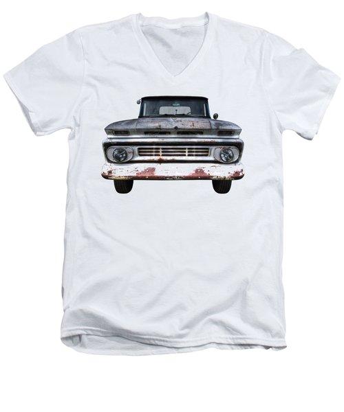 Rust And Proud - 62 Chevy Fleetside Men's V-Neck T-Shirt