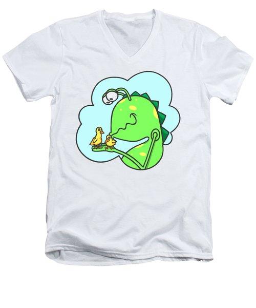 Monster Kissing Ducklings Men's V-Neck T-Shirt
