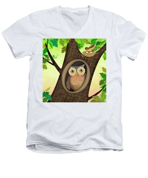 O Is For Owl Men's V-Neck T-Shirt